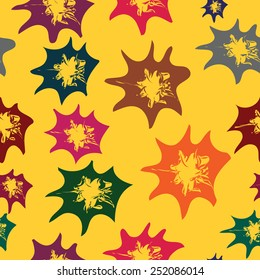 Seamless background with varicoloured abstract stars, vector