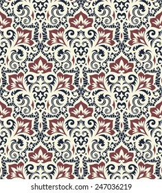 Seamless background from a vector ornament, Fashionable modern wallpaper or textile