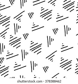 Seamless background vector pattern with hand drawn sketch lines in doodle style