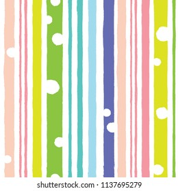 Seamless background with vertical stripes in rainbow colors. Summer style.