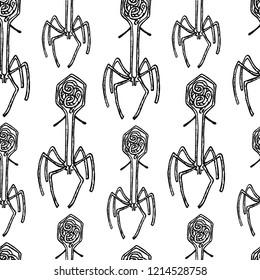 Seamless background of virus  bacteriophage