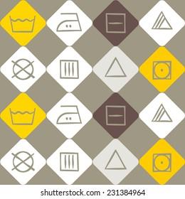 seamless background with washing symbols