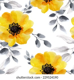 seamless background watercolor flowers seamless texture stock vector royalty free 229524190 seamless background watercolor flowers
