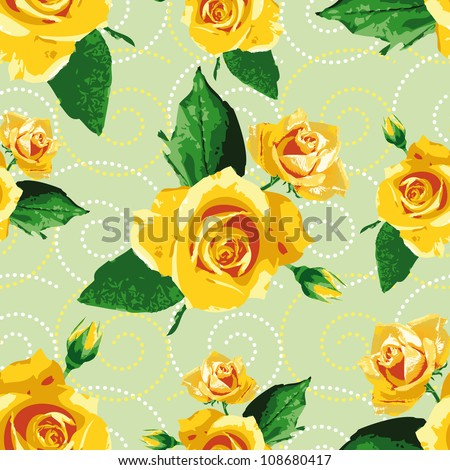 Seamless backgroundpatternwallpapers yellow rose flowers stock seamless backgroundpatternwallpapers with yellow rose flowers mightylinksfo