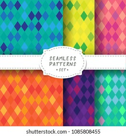Seamless backgrounds set with abstract pattern. Design element for wallpaper, wrapping paper, textile prints and etc.