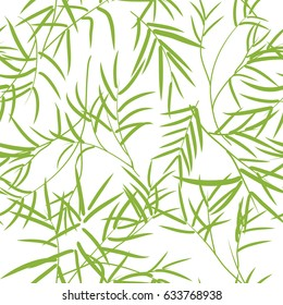 Seamless bamboo leaves pattern.