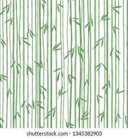 Seamless bamboo pattern, Asian motifs, vintage wallpaper, vector textile pattern