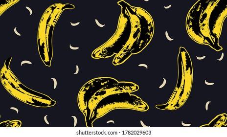 Seamless Banana Andy Warhol Vector Art