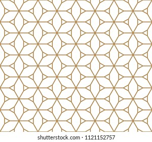 Seamless based on Kumiko pattern in color lines of medium thickness