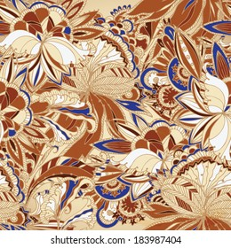 seamless batik exotic background