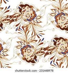 Seamless batik floral pattern