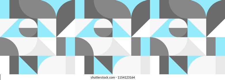 Seamless bauhaus style pattern with light colors