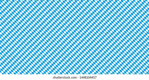 Seamless Bavarian Flag Pattern Oktoberfest Background Vector