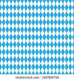 Seamless Bavarian rhombic pattern. Ideal for textiles, packaging, paper printing, simple backgrounds and textures.