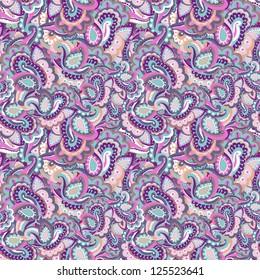 seamless  beautiful paisley pattern