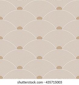 Seamless beige dense asian pattern vector