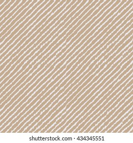 Seamless beige ikat diagonal lines hand drawn endless textile pattern vector