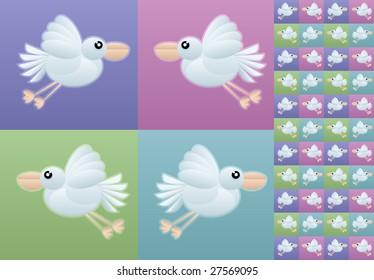 seamless bird wallpaper vector illustration