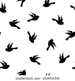seamless birds pattern background vector illustration