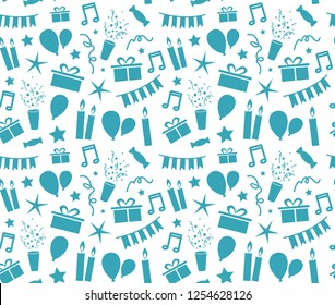 a seamless birthday pattern for every background