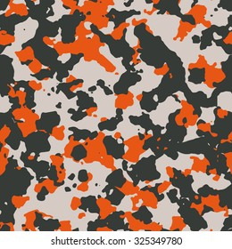 Seamless black gray and orange modern fashion camouflage pattern vector