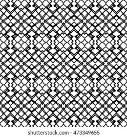 Seamless black and white abstract texture. Endless pattern with lines. Monochrome template for prints, textiles, wrapping, wallpaper, website, blog etc. Vector illustration.