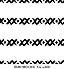 Seamless black and white ethnic pattern