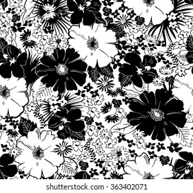 Black and white floral pattern images stock photos vectors seamless black and white floral pattern mightylinksfo