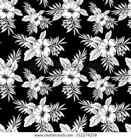 Seamless black white floral wallpaper stock vector royalty free seamless black and white floral wallpaper mightylinksfo