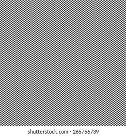 Seamless black and white slim perfect op art herringbone pattern vector