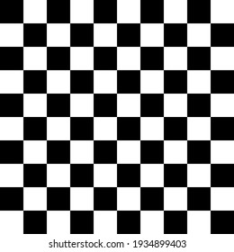 Seamless black and white square grid pattern for background