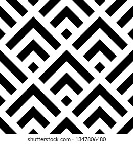 Seamless black and white square pattern. Vector illustration
