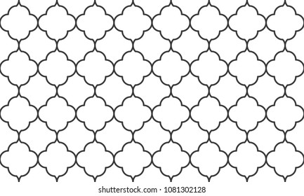 Seamless black and white vintage ornate islamic pattern vector