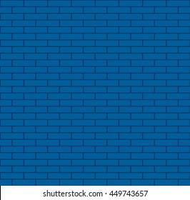 Seamless blue bricks vector illustration.