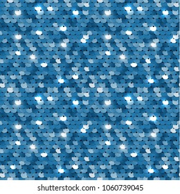 Seamless blue sequined texture - vector eps10 illustration