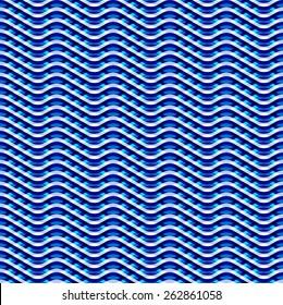 Seamless blue wave pattern