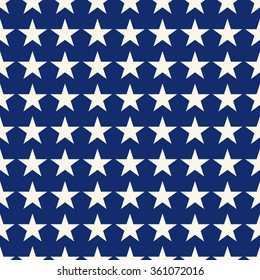 Seamless blue and white fashion stars pattern vector