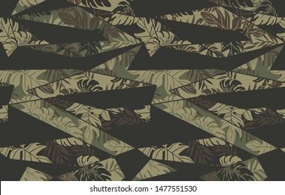 Seamless board shorts camo pattern
