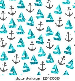 a seamless boat pattern