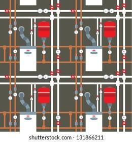 Seamless boiler room pattern. vector