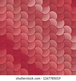 Seamless Bold Diagonal Abstract Striped Living Coral Variation Petals Background Vector Pattern
