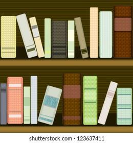 Seamless bookshelf