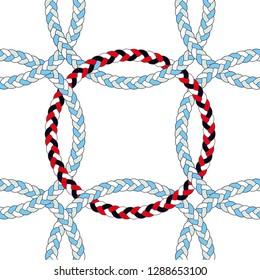 seamless braid circle pattern hair
