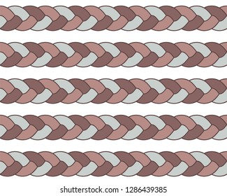 seamless braid parallel pattern vector mosaic Buy this get similar 6 pattern free (items placed in the swatches panel)