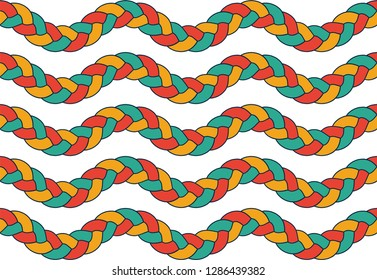 seamless braid parallel sine pattern vector mosaic hair wavy traditional Buy this get similar 6 pattern free (items placed in the swatches panel)