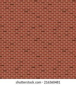 Seamless brick wall. Vector illustration
