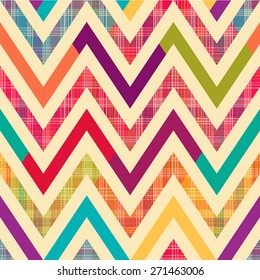 Seamless bright chevron pattern background