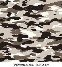 Seamless brown desert and urban fashion camo pattern vector