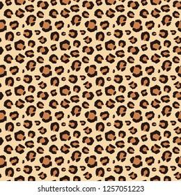 Seamless brown leopard pattern