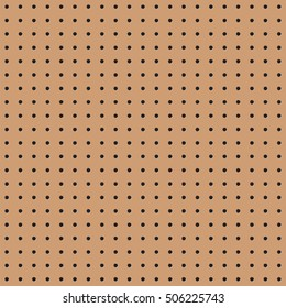 Seamless brown peg board texture pattern